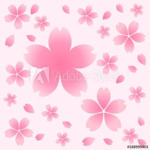 桜(さくら)背景素材(イラスト、パターン背景)