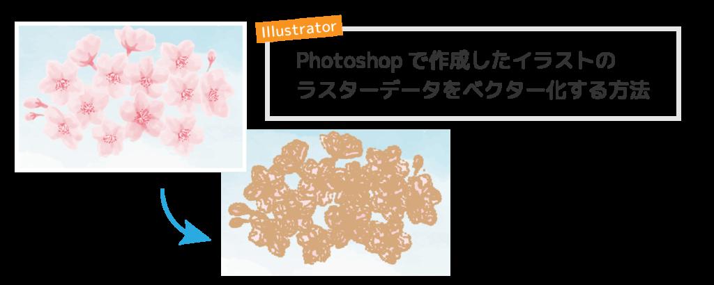 Photoshopで作成したイラストの ラスターデータをベクター化する方法