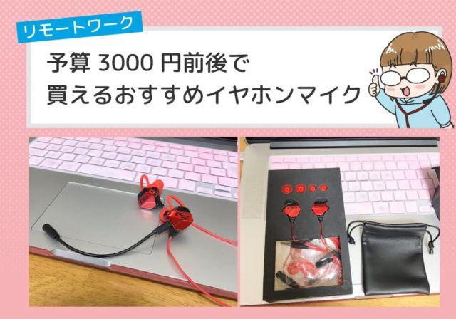 【テレワーク・在宅勤務】予算3000円前後で買えるおすすめイヤホンマイク